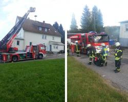 Probeeinsatz der Kniebiser Feuerwehr im Haus Gießen